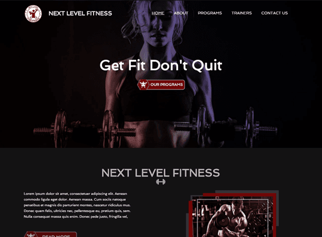 Fitness Website Design Themes by Search Marketing Specialists