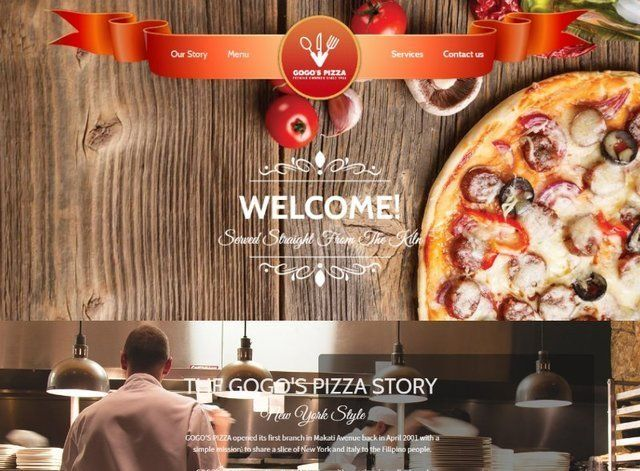 Pizza Website Design Themes by Search Marketing Specialists