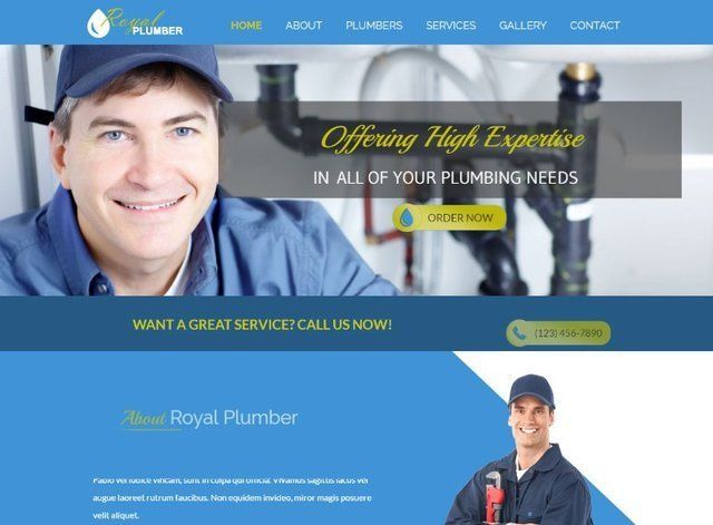 Plumber Website Design Themes by Search Marketing Specialists