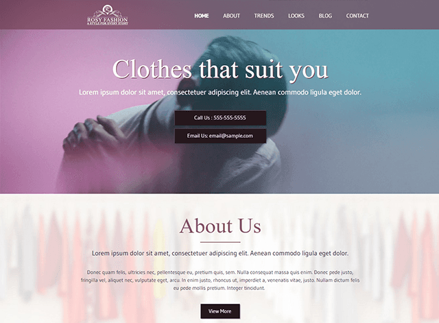 Rosy Fashion Website Design Themes by Search Marketing Specialists