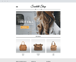 Scarlet Shop Website Design Themes by Search Marketing Specialists