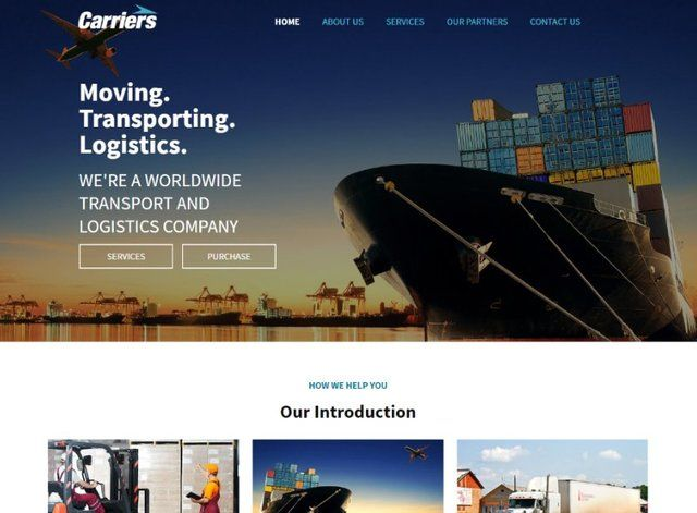 Transport Website Design Themes by Search Marketing Specialists
