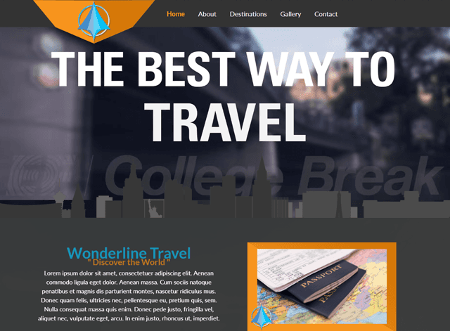 Wonderline Travel Website Design Themes by Search Marketing Specialists