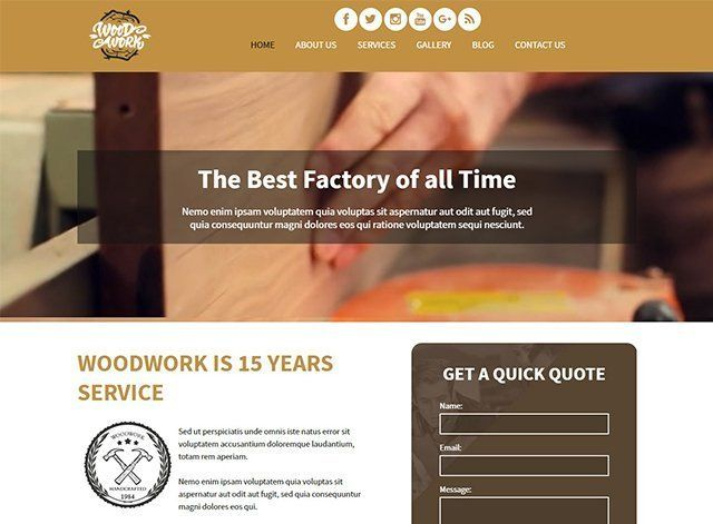 Wood Work Website Design Themes by Search Marketing Specialists