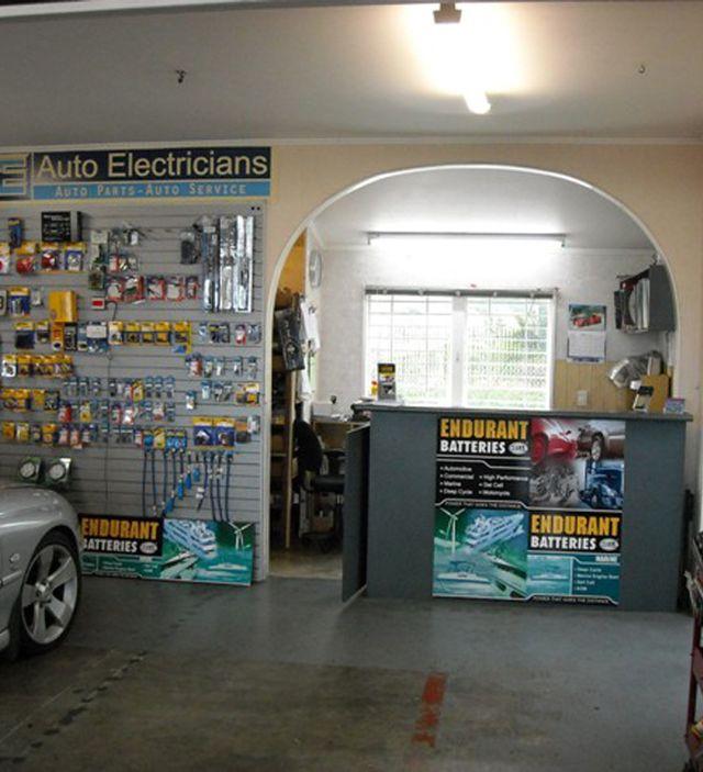 Inside auto electrical workshop in Manukau