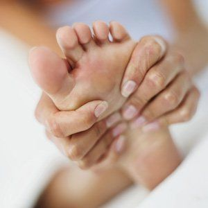 Massaging of the foot