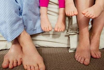 Feet of multiple people