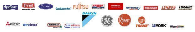 LUXAIRE MITSUBHISHI YORK LENNOX logos