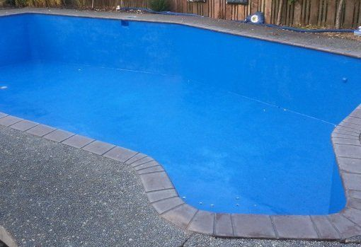Swimming pool after sandblasting
