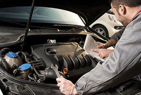 Servicing a car engine