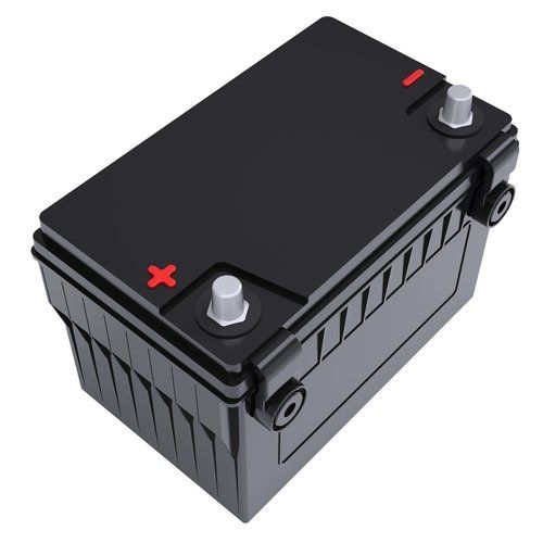 Car battery on a white background