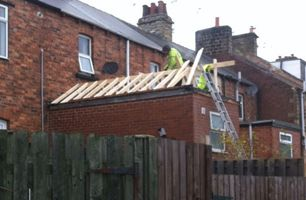 sloped wooden roofing