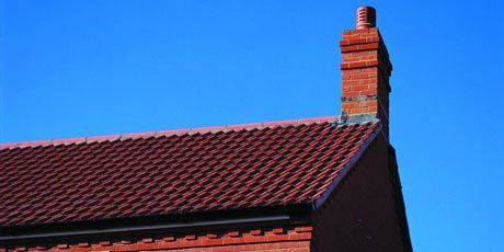 newly fitted roof and chimney
