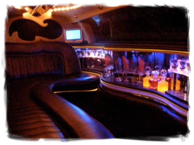 interior of a limousine