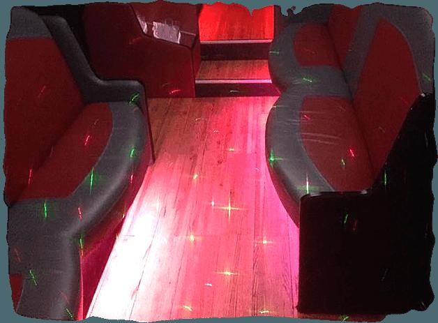 lighting inside a limousine