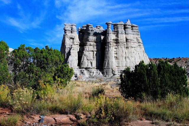 Tall rock formation