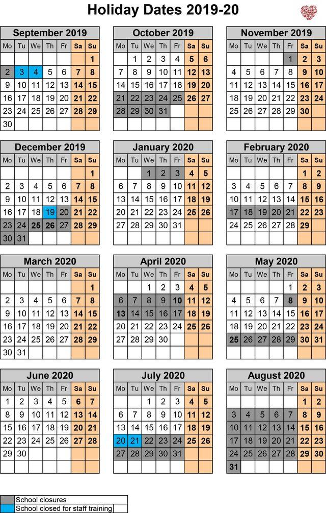 Calendar & Term Dates