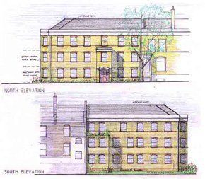 Architectural design and planning application for a new block of flats in Lewisham