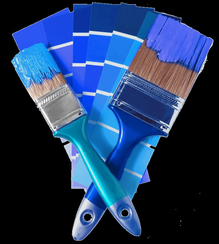 pennelli con cartelle colore