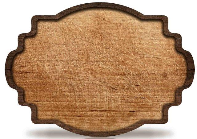 un'insegna in legno