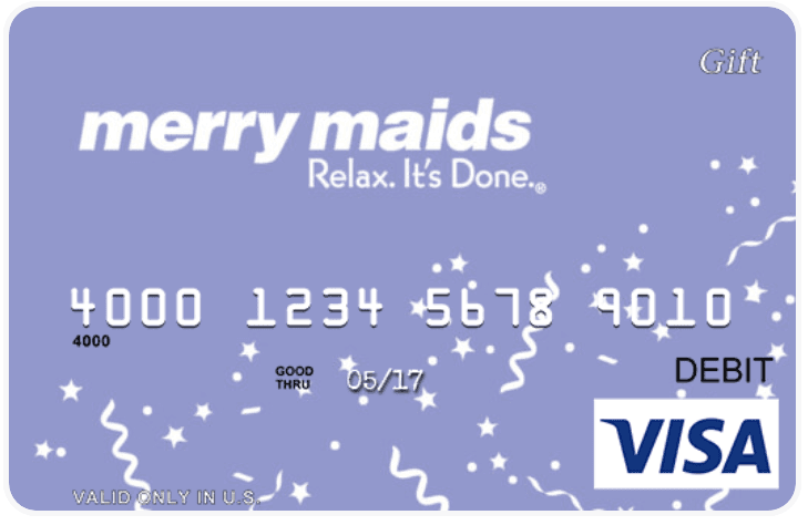 Gift Cards Merry Maids