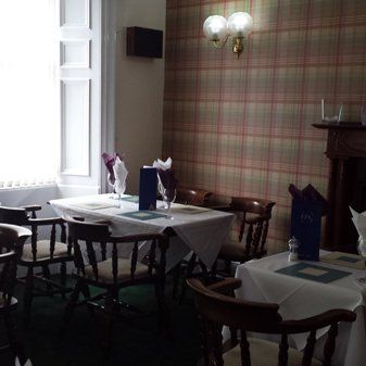 The hotel restaurant in George & Abbotsford Hotel