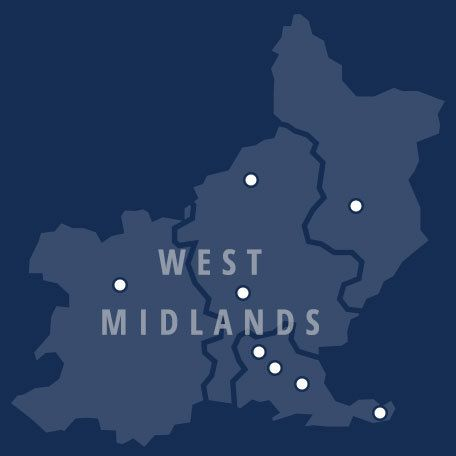 WEST MIDLANDS MAP COVERAGE