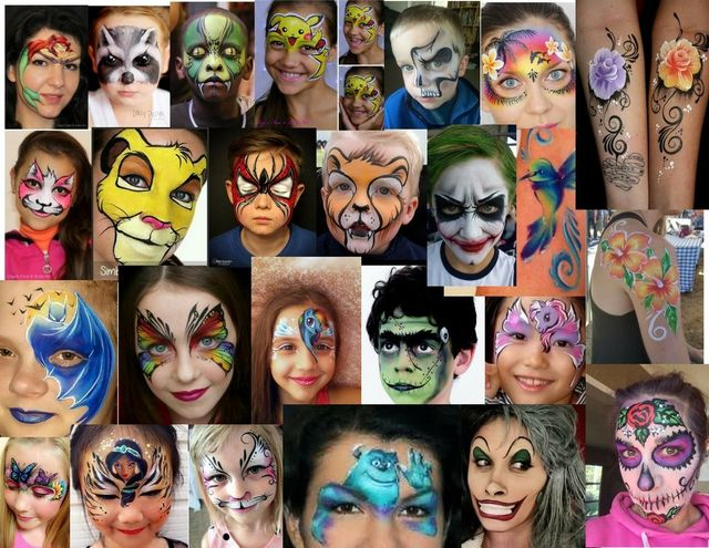 face painting cheek art body painting balloon art makeovers