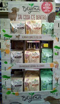 espositore alimenti per animali a marchio purina beyond