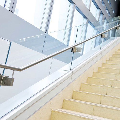glass cut stairs