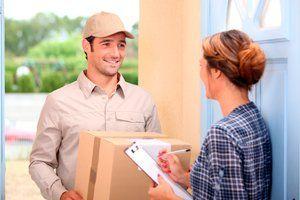 parcel being delivered