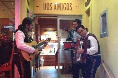 Band playing at Dos Amigos