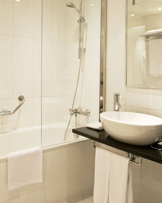Modern bathroom with plumbing installed by drainage services experts in Marlborough