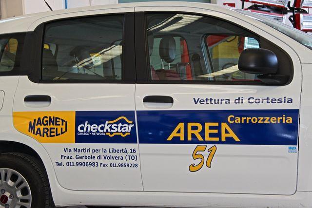 Auto sostitutiva Carrozzeria Area 51