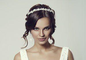 a lady after makeup