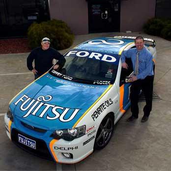 ford fujitsu race car
