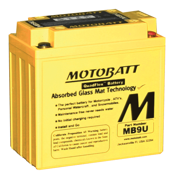 MOTOBATT MOTORBIKE BATTERY
