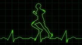 Elettrocardiogramma con uomo stilizzato