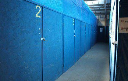 Indoor secure self and storage