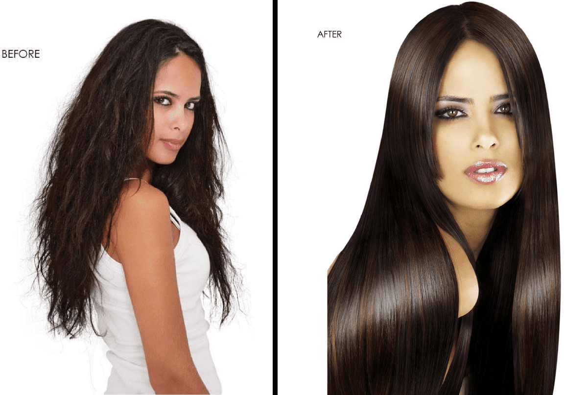 Stylish hair cut and coloring done by the experts