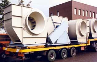 Ventilatori centrifughi in polipropilene