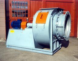 Ventilatore centrifugo a semplice aspirazione in acciaio (Corten)
