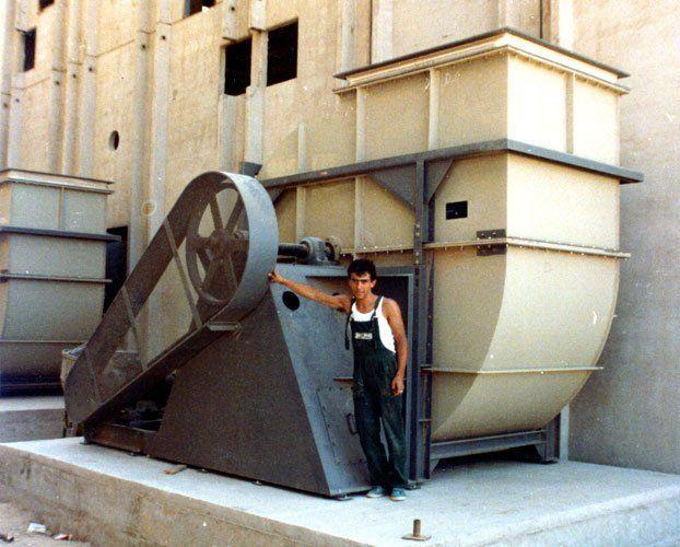 Ventilatore centrifugo a semplice aspirazione in polipropilene