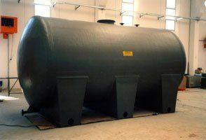 Serbatoio di stoccaggio prodotti chimici in PVC+PRFV