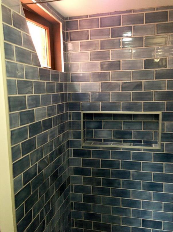 Ensuite shower tiling in Titirangi Auckland