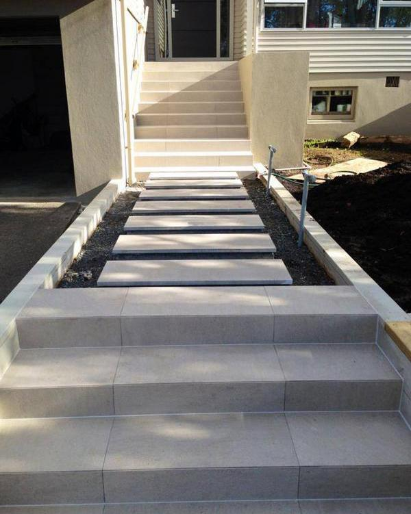 Outdoor tiled staircase in Howick Auckland