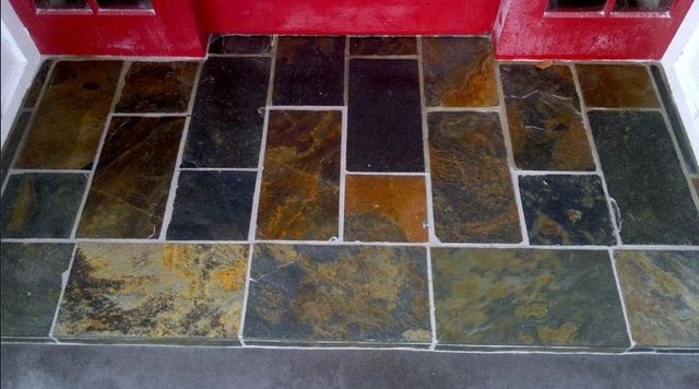 Front door tiled footstep in Auckland by A1 Surface Tiling