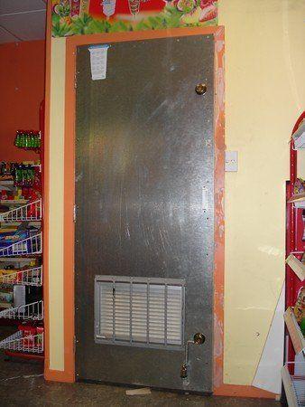 Steel sheathing door installed by expert