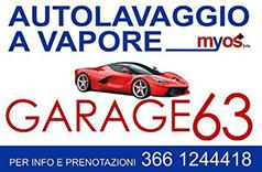 AUTOLAVAGGIO A VAPORE GARAGE 63 - LOGO