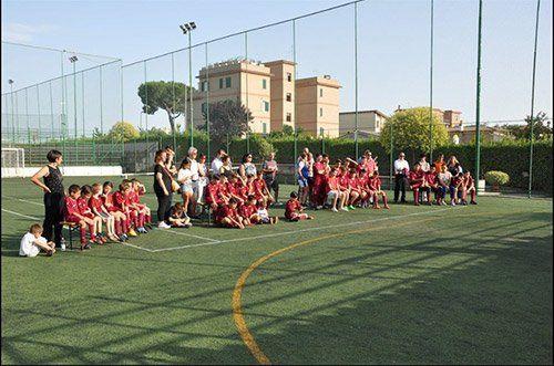 foto di gruppo di una squadra di calcio formata da bambini